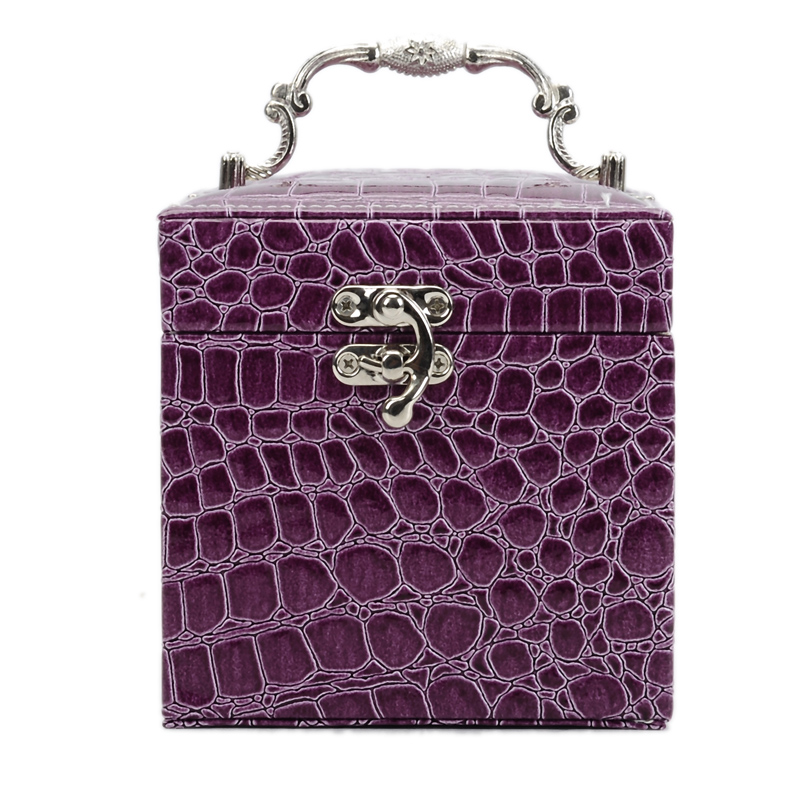 Guanya GUANYA crocodile print inside the three-story jewelry box jewelry box birthday wedding gift 211-59.