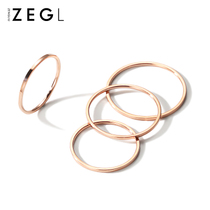 ZENGLIU Korean fine ring female plated 18K rose gold ring joint index finger ring fashion personality jewelry decoration