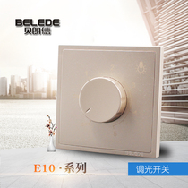 Belland switch socket panel 86 type Champagne Gold dimmer switch light dark adjustment switch Champagne Gold