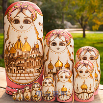 (YAKELUS) yakelus authentique Basswood original authentique don matryoshka 10 layer 1068