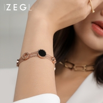 Zengliu Europe and the United States personality bracelet female plated rose gold bracelet mens jewelry simple personality tide couple jewelry