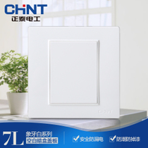 Cheng Tai switch socket panel NEW7L steel frame wall switch socket 86 type blank panel cartridge cover