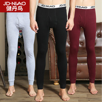 Jian Dan bird mens autumn pants mens single piece of youth leggings cotton warm pants cotton pants thin winter pants