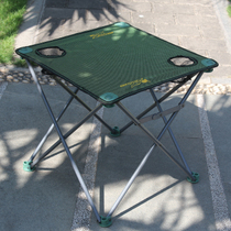 Outdoor folding table mini small cloth table convenient camping fishing table fashion leisure table ultra-light self-driving travel equipment