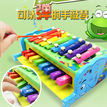Banging toys two-in-one hand banging xylophone 8 sound banging piano infants and young children early education educational music teaching aids