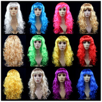 Maquillage de 160g de lin Fang boule halloween partie faux cheveux veste cheveux bouclés cosplay perruque grosse vague