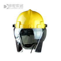 02 paragraph protective helmet Korean anti-smashing fire hat New rescue rescue training helmet with shawl half mask