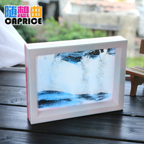 Hourglass painting ornaments glass quicksand micro landscape 3D three-dimensional painting creative personality simple modern home craft gift