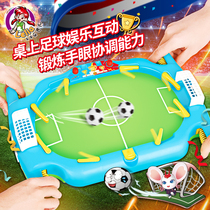 Childrens football duo match console indoor table top big football toy boy puzzle can score