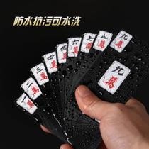 Waterproof Solitaire Mahjong Poker seniors Entertainment New Year table paper Finch brand card carry-on party tour