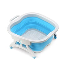 Home foot bath bucket creative foldable bubble foot barrel handheld foot massage elevated foot bucket folding wash basin
