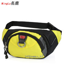 Famous deer 2018 new mens and womens waist bag Korean version of sports waist bag outdoor leisure bag small bag tidal bag out of the door to prevent splashing water.