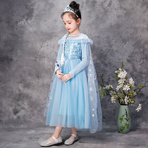 Ice princess dress Pocahontas childrens dress Aisha girl dress Little Girl long-sleeved love sand skirt autumn