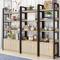 Creative Home steel wooden shelves living room storage rack simple display rack free assembly can be customized