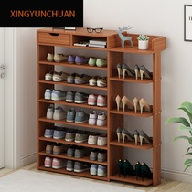 Shoe rack home economy simple door home shoe cabinet multi-functional simple modern imitation solid wood small multi-layer