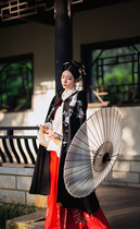 The song waning view of its original hanfu female cloak long paragraph plus velvet