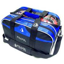PYRAMID ECO-FRIENDLY ECONOMY BOWLING DOUBLE BALL BAG SAC SAC SANS LEVIER 2 SAC À BILLES DOUBLE SAC (BLUE BLACK)