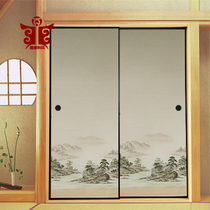 The Tang Dynasty and the wind 515# the Japanese style of the upper and lower cabinet door tatami partition doors to move the door paper Fushma door Paper Fook horse paper
