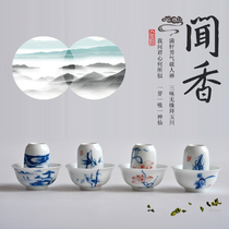 Jingdezhen hand-painted Kung Fu Tea Cup single cup tea cup blue and white porcelain glaze fragrant cup tea cup set ceramic