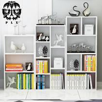 Bookshelf simple modern student childrens bookcase free combination landing cabinet simple table small bookshelf racks