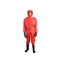 Connected fire prevention suit biochemical ammonia liquid ammonia light anti-chemical clothing anti-virus clothes simple anti-chemical clothing