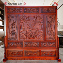 Dongyang wood carving screen antique carving living room Xuanguan block solid wood-type partition screen double-sided floor-to-ceiling screen.