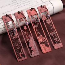 Chinese wind gifts solid wood bookmarks set creative classical Meilan bamboo Compositae Ebony Ebony bookmarks personalized custom