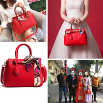 Wedding bag red bag 2019 new bride small CK wedding bridesmaid handbag portable atmosphere large capacity