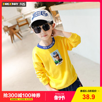 Left West childrens clothing sweater spring 2019 New childrens long-sleeved hedging in the big boy spring and autumn Korean version of the tide