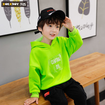 Left West boy hooded sweater autumn and winter 2019 New children plus velvet thick coat in the big boy Korean version of the tide