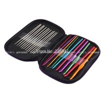 1set 22 multicolour aluminum crochet hook knitting kit nee