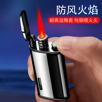Net red retro vintage windproof lighter gas creative personality high-grade metal inflatable lighter men wholesale