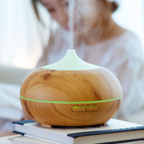 Wood grain creative aromatherapy lamp humidifier night light bedroom office plug-in ultrasonic humidification