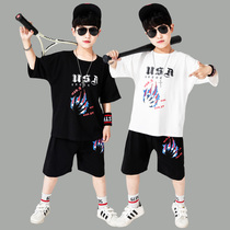 Boy suit 10 big boy 11 boy summer fat child 2020 new clothes 12 years old Korean version of the short-sleeved 13 years old 15