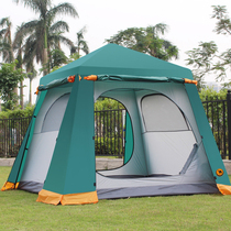 Desert camel automatic hydraulic tent outdoor 3-4 people 5 people 6 people double layer camping rain-proof family big tent