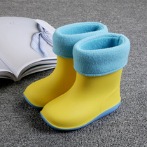 Japanese childrens rain boots boys and girls non-slip bottom baby rain boots kindergarten children water shoes four seasons boots rain boots