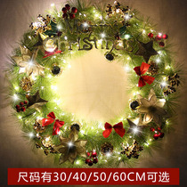 Christmas decorations 30 50 60cm wreath door hanging wall wreath ornaments shop window scene layout