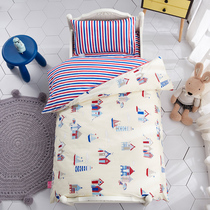 Kindergarten dedicated nap was three sets of cotton baby quilt children cartoon bedding sets cotton six sets