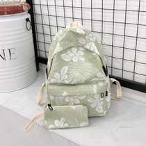 2018 New shoulder bag Korean version of the Department of small fresh wild Junior High School student bag big flower girl heart backpack tide