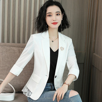 Small suit jacket female spring and autumn 2019 spring tide Korean version of the network red retro casual thin short paragraph jacket small suit