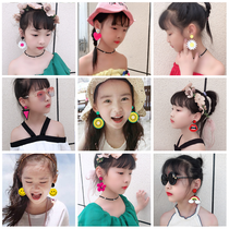 Children girls baby earrings personality ear clip no ear hole Princess fake Earrings Fashion Earrings girl flower earrings