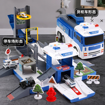 Garage parking 110 toy police car Children 2-3 years old 4 types of car engineering fire suit car 6 boys