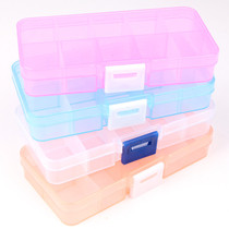 Needle storage 10 lattice 15 lattice transparent jewelry box storage box store box jewelry box removable needle storage box