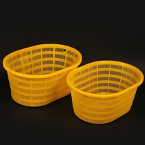 Plastic basket thick oval egg-shaped waist basket seafood watermelon basket basket fruit vegetables big box