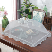 Covered food food meal cover household collapsible washable leftovers cover table bowl cover anti-fly cover vegetable umbrella