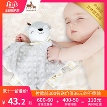 Baby comforting towel can be ingested 0-1 years old newborn sleep to sleep artifact baby appease toy doll