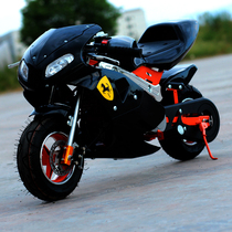 The new four-stroke mini sports car 4 red mini motorcycle scooter road race with light gasoline