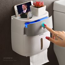 Toilet paper towel box toilet toilet paper rack toilet paper box free punch waterproof roll paper tube creative pumping tray