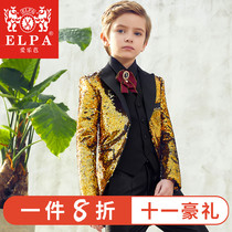 ELPA children's dress suit boy suit small suit new flower girl baby chair piano performance tuxedo