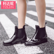 Rain shoe lady summer water shoes shoes boots women low help fashion anti-skid waterproof boots rubber shoes Chelsea Boots Spring and summer